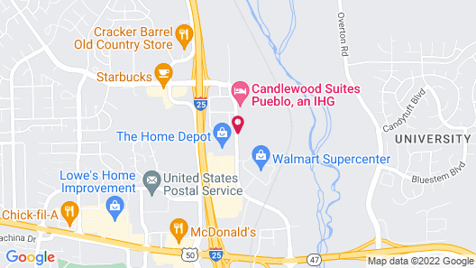 Holiday Inn Express & Suites Pueblo North, an IHG Hotel Map