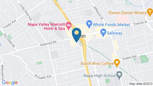 Motel 6 Napa, CA Map