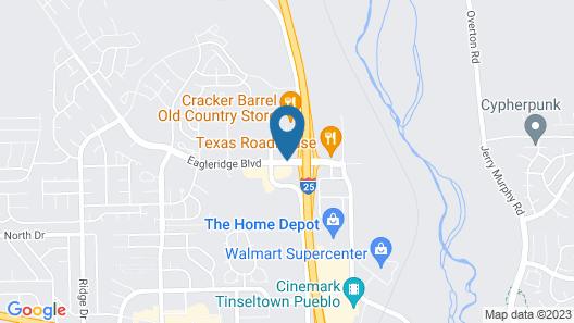 Ramada by Wyndham Pueblo Map