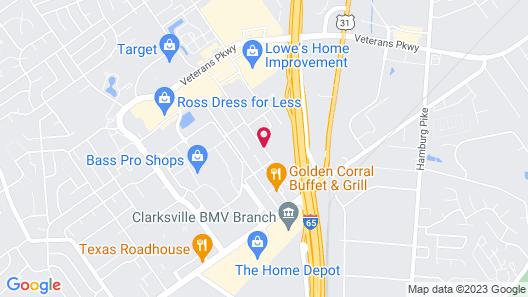 Hampton Inn Louisville North/Clarksville Map