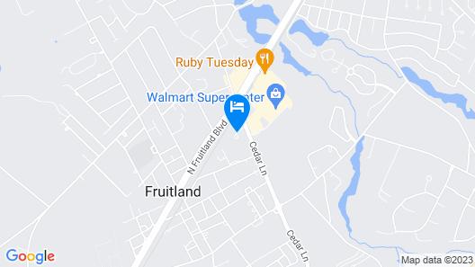 Hampton Inn & Suites Fruitland Map