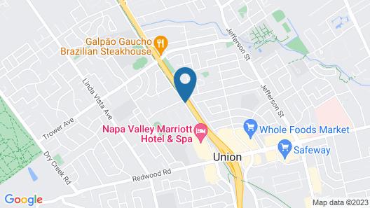 Hilton Garden Inn Napa Map