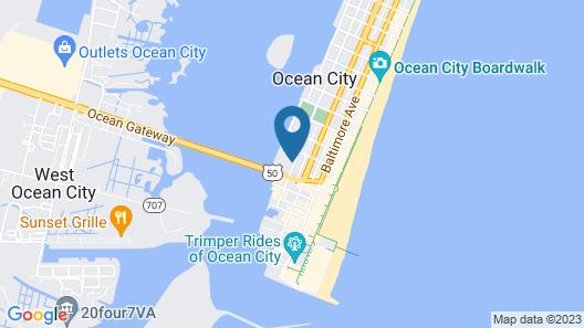 Cambria Hotel Ocean City - Bayfront Map
