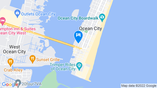 Cambria Hotel Ocean City - Bayfront Map