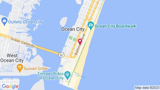 Hotel Monte Carlo Ocean City Map