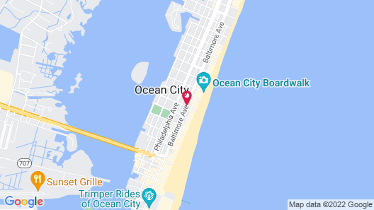 Atlantic House Bed and Breakfast Map