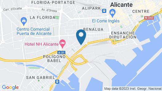 Hotel Campanile Alicante Map