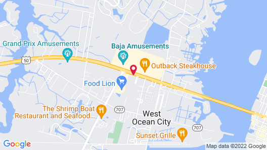 Comfort Suites Ocean City Map