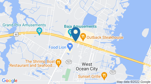 Hampton Inn & Suites Ocean City West Map