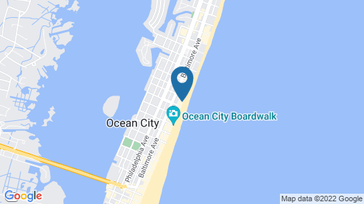 The Americana Hotel Map