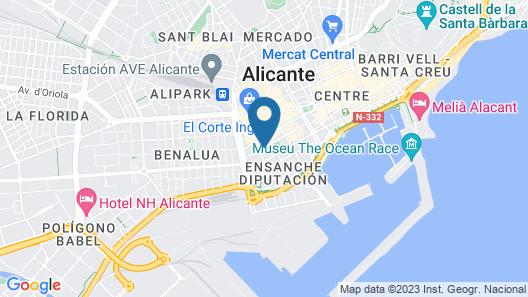 Eurostars Centrum Alicante Map