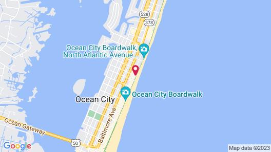 Monte Carlo Boardwalk / Oceanfront Ocean City Map
