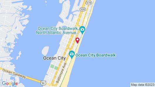 Howard Johnson Plaza Hotel by Wyndham Ocean City Oceanfront Map
