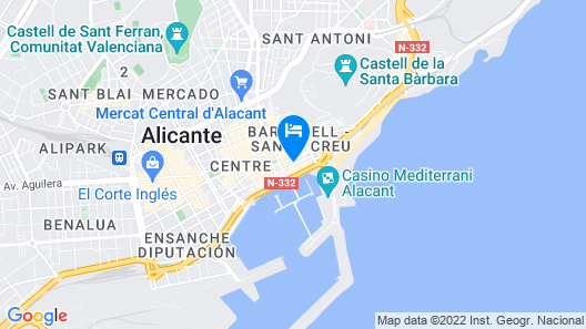 Hotel Serawa Alicante Map