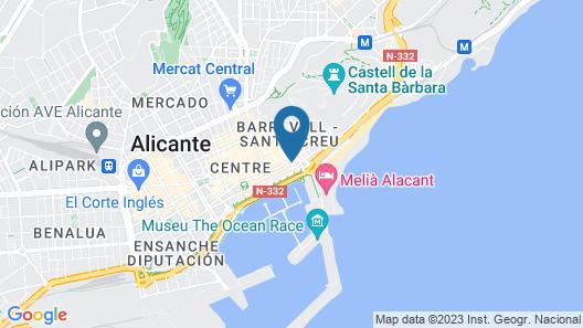 Eurostars Mediterranea Plaza Map