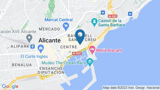 Apartamentos Globus Map