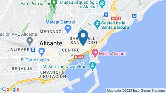 Luces de Catedral Map