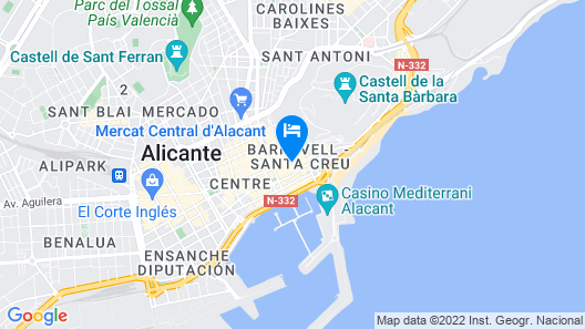 Hotel Boutique Alicante Palacete S.XVII - Adults Only Map