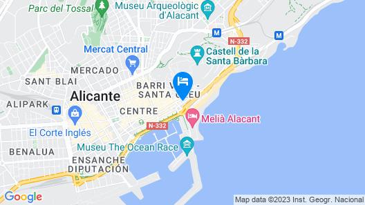 TRYP Ciudad de Alicante Hotel Map
