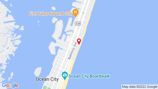 Quality Inn Boardwalk Map