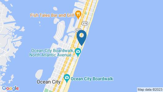 Quality Inn Boardwalk Map
