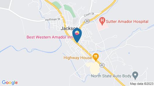 Best Western Amador Inn Map