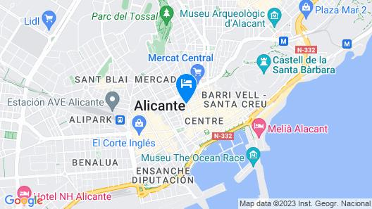 Hotel Cervantes Map