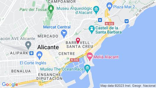 Apartamentos Quijano by Be Alicante Map