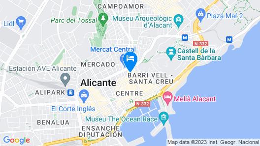 Occidental Alicante Map