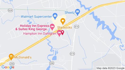 Hampton Inn Dahlgren Map