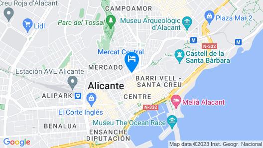 Eurostars Lucentum Map