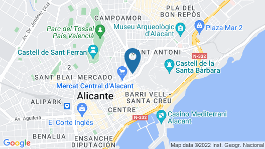 The Market Hostel Alicante Map