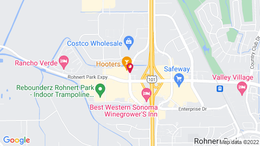 Hampton Inn & Suites Rohnert Park - Sonoma County Map