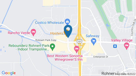 Hampton Inn & Suites Rohnert Park - Sonoma County Map