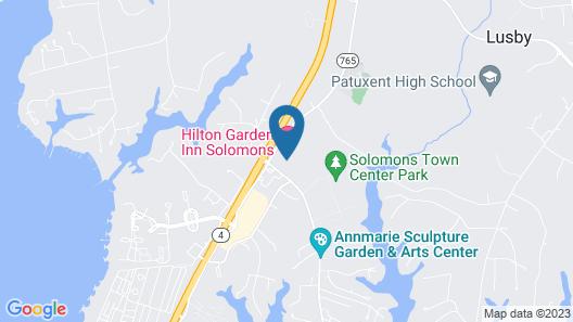 Hilton Garden Inn Solomons Map