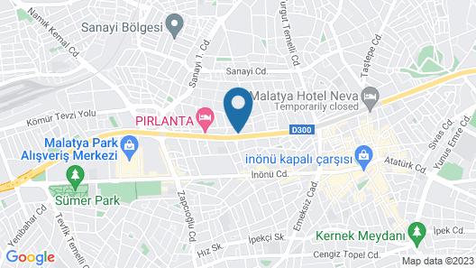 YZE Pirlanta Hotel Map
