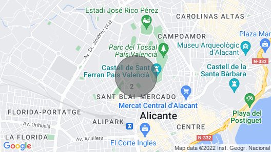 New Tourist Apartment in Alicante Near the Center and Train Station Map