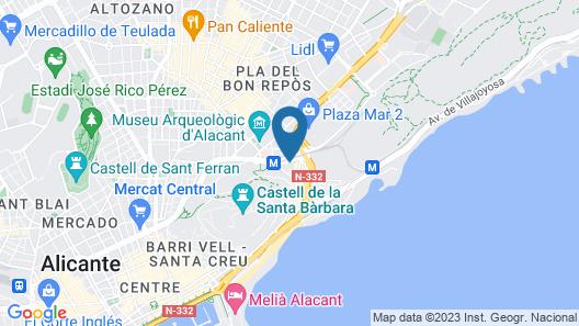 Hotel Maya Map