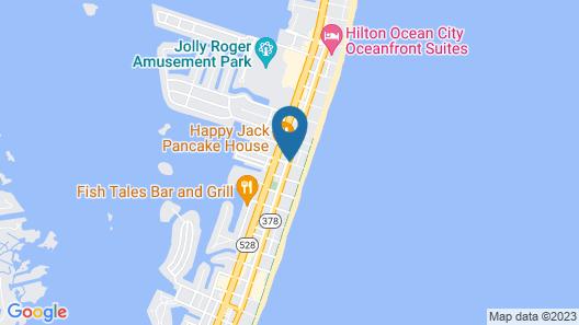 Crystal Beach Hotel Map
