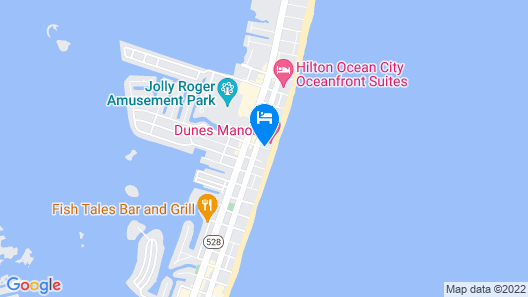 Dunes Manor Hotel and Dunes Suites Map