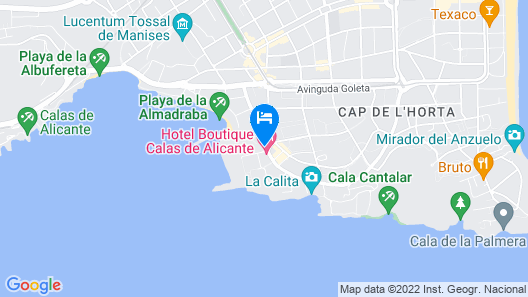 Hotel Boutique Calas de Alicante Map