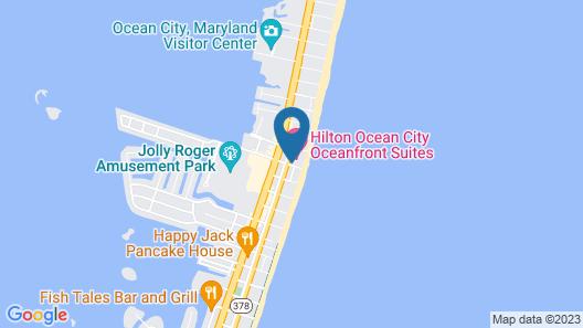 Hilton Ocean City Oceanfront Suites Map