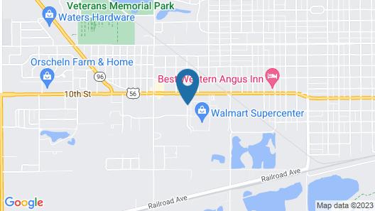Super 8 by Wyndham Great Bend Map