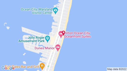 DoubleTree by Hilton Ocean City Oceanfront Map
