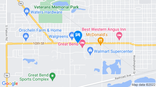 Holiday Inn Express & Suites Great Bend, an IHG Hotel Map