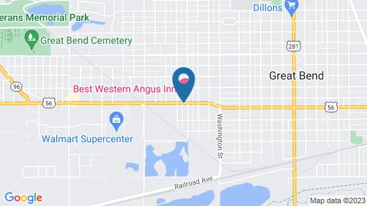 Best Western Angus Inn Map