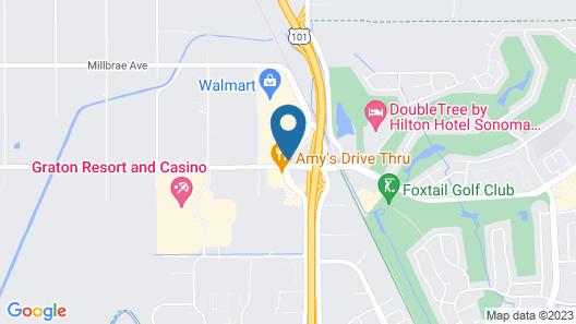 Good Nite Inn Rohnert Park Map