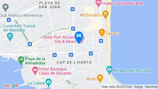 Port Hotel Alicante Playa De San Juan Map