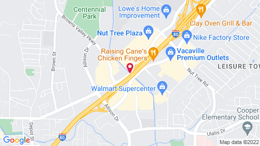Americas Best Value Inn Vacaville Napa Valley Map