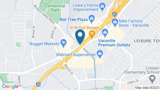 Americas Best Value Inn Vacaville Napa Valley Map